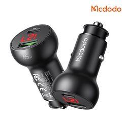 Mcdodo 45W 듀얼 C+A타입 디스플레이 차량용 고속충전기