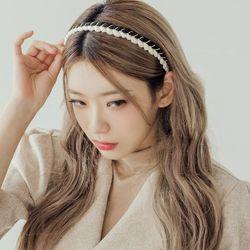 따임 배색일자 머리띠 헤어밴드 (21HB011)