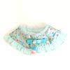Hanbok Silk Frill Cape - Sky Blue