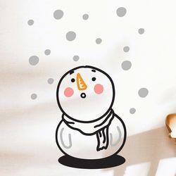 눈이 신기한 아기눈사람 겨울 인테리어 스티커  small