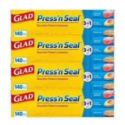 글래드 매직랩 프레스 앤 씰 43.4mx30cm 4팩 대용량