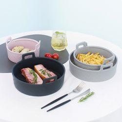 심플쿡 실리콘 에어프라이어용기 그릇 소형 15cm