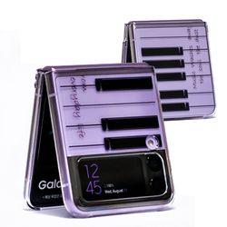 갤럭시 Z 플립3(SM-F711 ) Retro Piano 이미지 투명하드 케이스