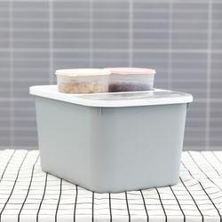 [무료배송] 마카롱 쌀통 10Kg+마카롱 다용도 잡곡통 900ml 2개