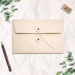 A5 하도메 단추 봉투 케이스 서류봉투 파일 엽서 편지 보관