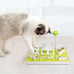 고양이 먹이 퍼즐 하겐 캣잇 트릿 반려동물 장난감 행동풍부화