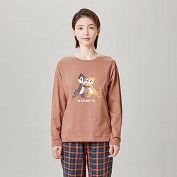 디즈니여성긴팔티셔츠칩앤데일ANLT21T81