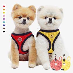 리얼펫 강아지하네스 가슴줄+리드 세트 9color (XL - XXL)