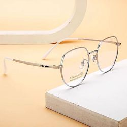 다각형 은테 베타티타늄 안경테 남자 여자 패션 안경