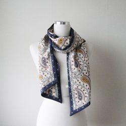 페이즐리 롱 트윌리 간절기 여성 스카프 (3color)