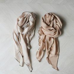 데일리 소프트 라인 무지 여성 스카프 (2color)