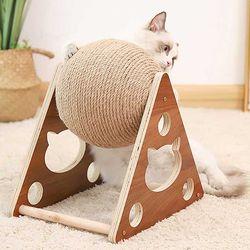 스트레스 해소 고양이 스탠딩 스크래치 볼 CH1772825