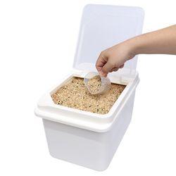 리빙선데이 쌀통 10kg 잡곡통 쌀보관통 다용도 보관함