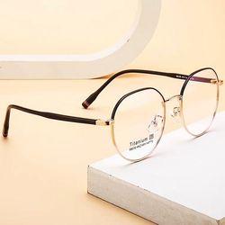 다각형 은테 금테 무테 티타늄 안경테 패션 안경