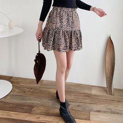 N Leopard Cancan Mini Skirt - 치마바지