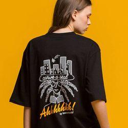 AH!AH! 라운드 반팔티 (블랙)(GZ127079)