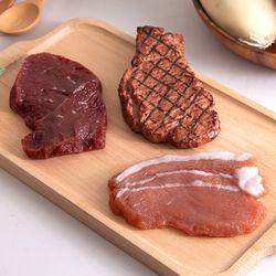 쫀득쫀득 고기 모형 1P