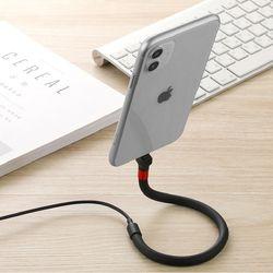 아이폰/갤럭시/아이패드 스탠딩 거치 충전 USB 케이블