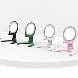 아이폰/갤럭시/휴대폰 접이식 거울 폰거치대 스탠드