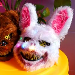 LED 호러 토끼 가면 할로윈 마스크
