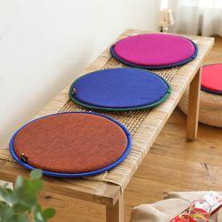 오리고 식탁 벤치 의자 얇은 원형 방석 8 color
