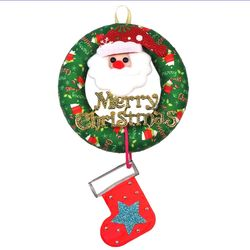 [맘아트] 크리스마스 리스 만들기 - 그린리본 산타 메세지