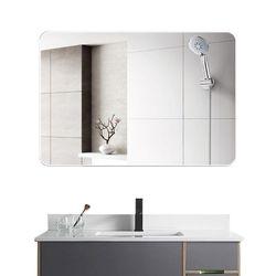 인테리어 사각 무타공 부착식 벽걸이 화장대 거울