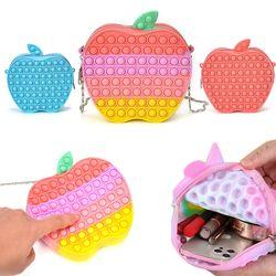 귀여운 사과 푸쉬팝 팝잇 크로스백 스트랩 핸드폰가방