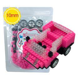 G79 디폼블럭10mm 핑크자동차 (3D입체)