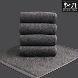 송월 고중량 코마사 컬러칩 호텔수건 차콜 10장