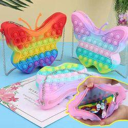 나비모양 팝잇 가방 푸시팝 파빗 버블 무한뽁뽁이