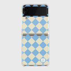 sky checkerboard Z플립3 클리어하드케이스
