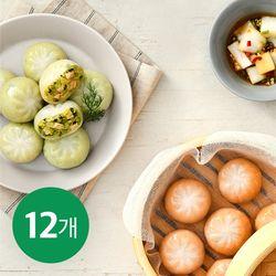 똑똑식단 닭가슴살 야채 만두 130g x 12팩