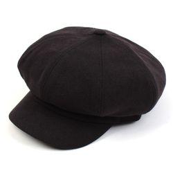 Belted Bold CT Black Newsboy Cap
