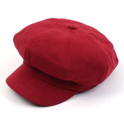 Belted Bold CT Red Newsboy Cap