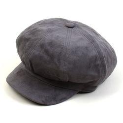 Soft Suade Gray Newsboy Cap