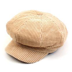 Bold Corduroy Ivory Newsboy Cap