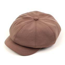 Wool Brown Belted Newsboy Cap