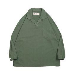 러기드하우스 : 리치 오픈칼라 포켓 티셔츠 카키(NEWTQYHLEY)