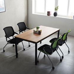T4 회의테이블 포그니 1500 의자세트 로디 상담탁자