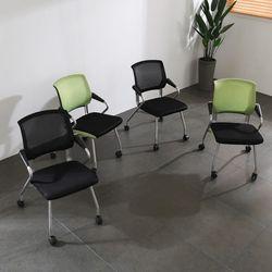 포그니의자 4개 사무실 회의용 체어 테이블 매장 강당
