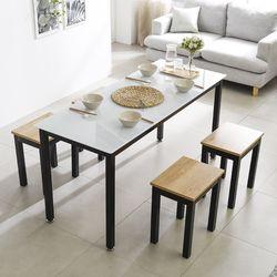 T7 식탁의자세트 로디 1200 철제 4인 테이블