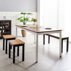 T7 식탁의자세트 로디 1500 철제 4인 테이블