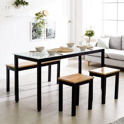 T8 식탁의자세트 로디 1500 철제 4인 테이블