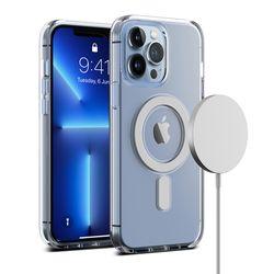 아이폰 13 프로 케이스 마그네틱 투명 크리스탈믹스