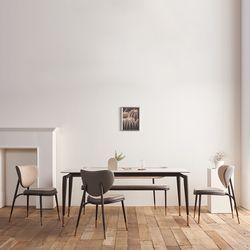 워너빌 양면 세라믹 6인 식탁 세트(벤치형)