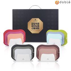 [무료배송] [도마 3P+거치대] 도블레 칼집나지 않는 도마 세트 명절용 박스