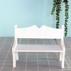 오리커플 벤치 장식 소품 의자
