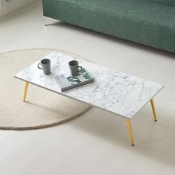 [UFO]엉클잭 네오 사각 디자인 골드 다리 거실테이블좌식테이블