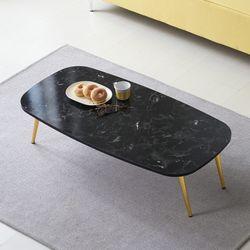 [UFO]엉클잭 네오 타원 디자인 골드 다리 거실테이블좌식테이블